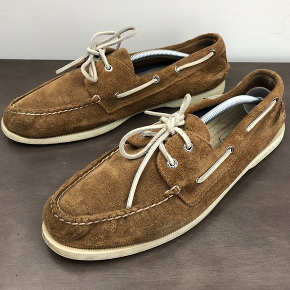87262be8b0b Sperry Top-Sider Tan Suede Boat Shoes